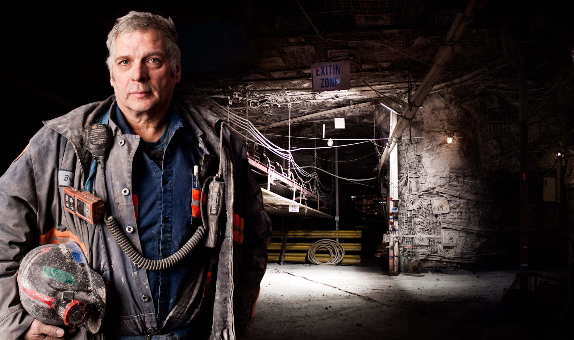 Portrait of an Alpha Natural Resources Miner inside Deep Mine 41