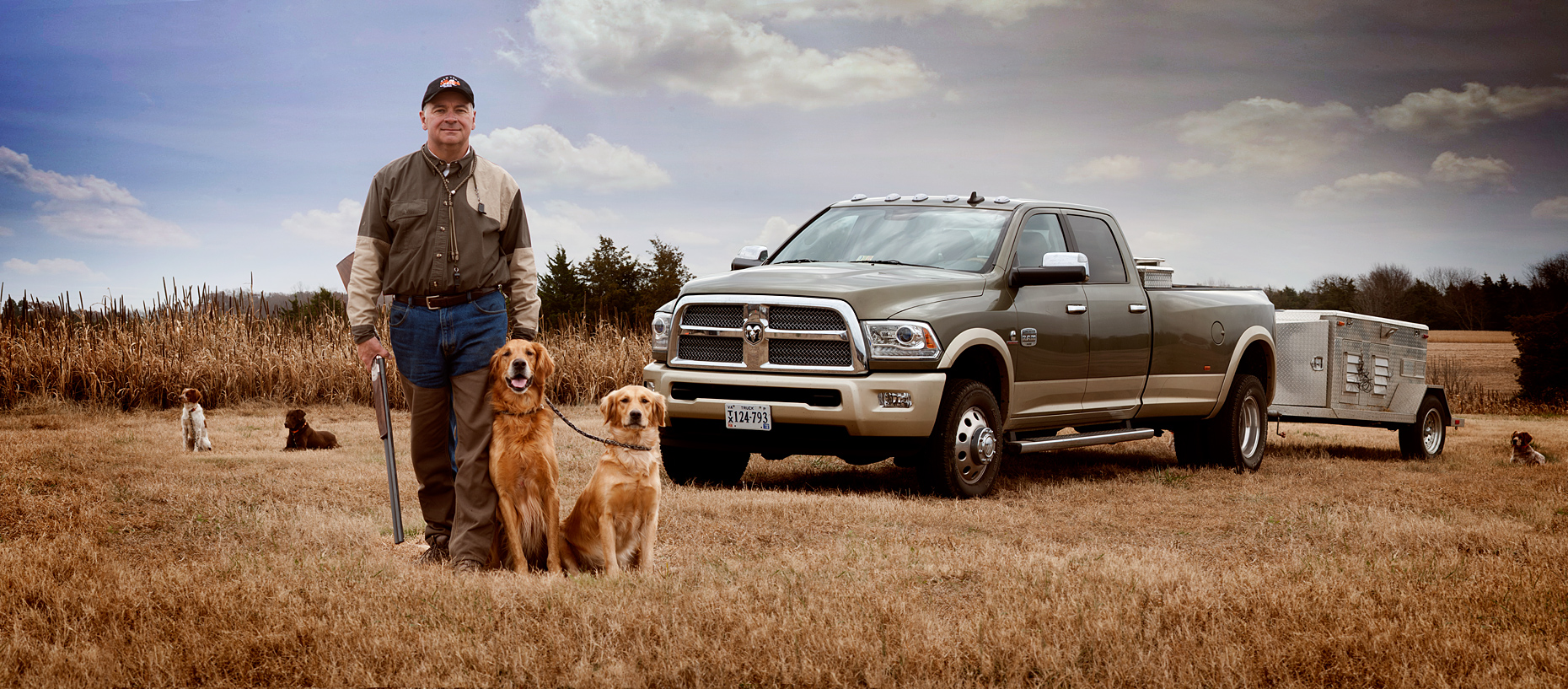 ©Robb Scharetg - H.Jaekle with his hunting champion dogs .  DC photographer , SF photograper