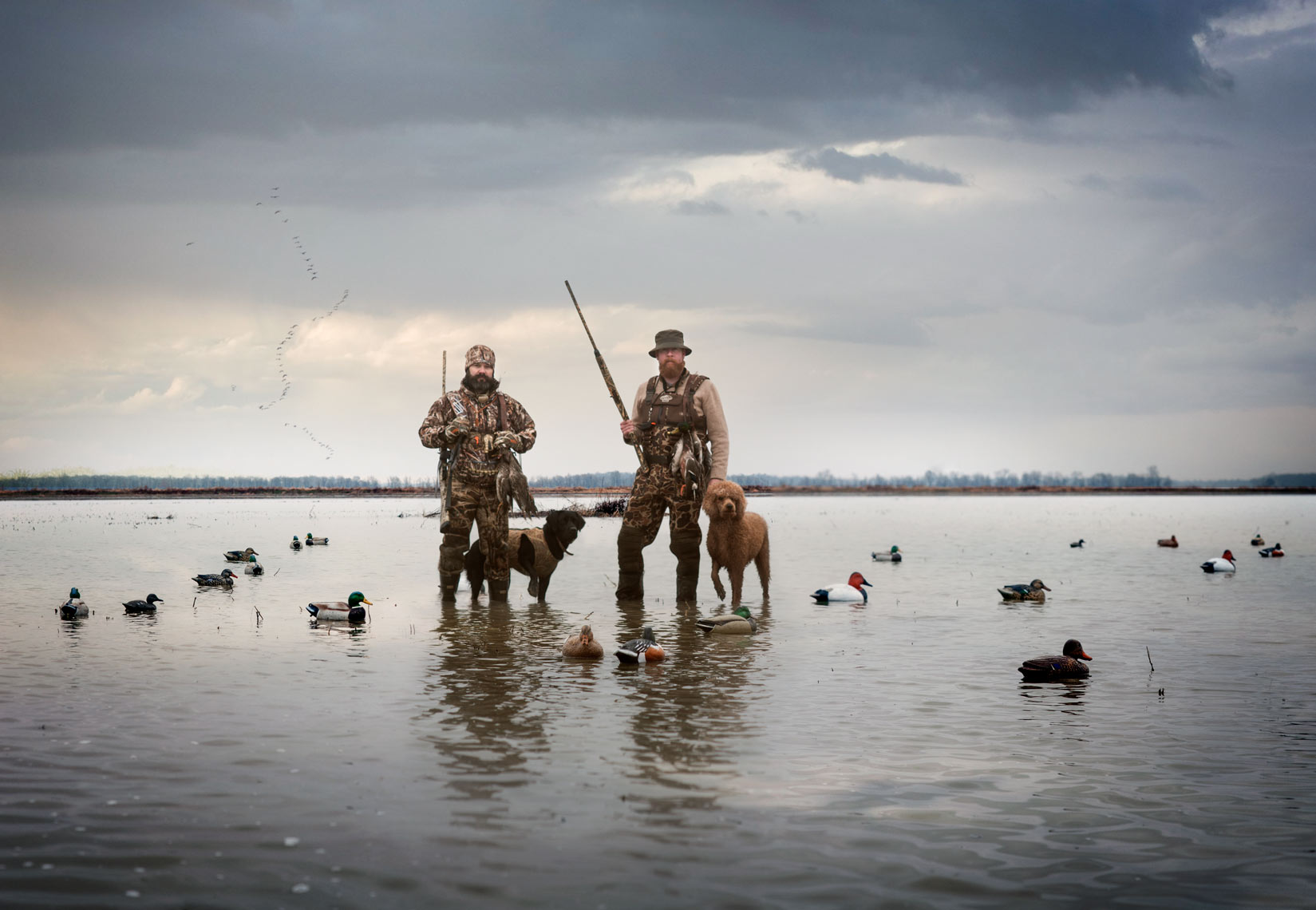 Jason Pittman and Erik Dean after an early AM duck hunt