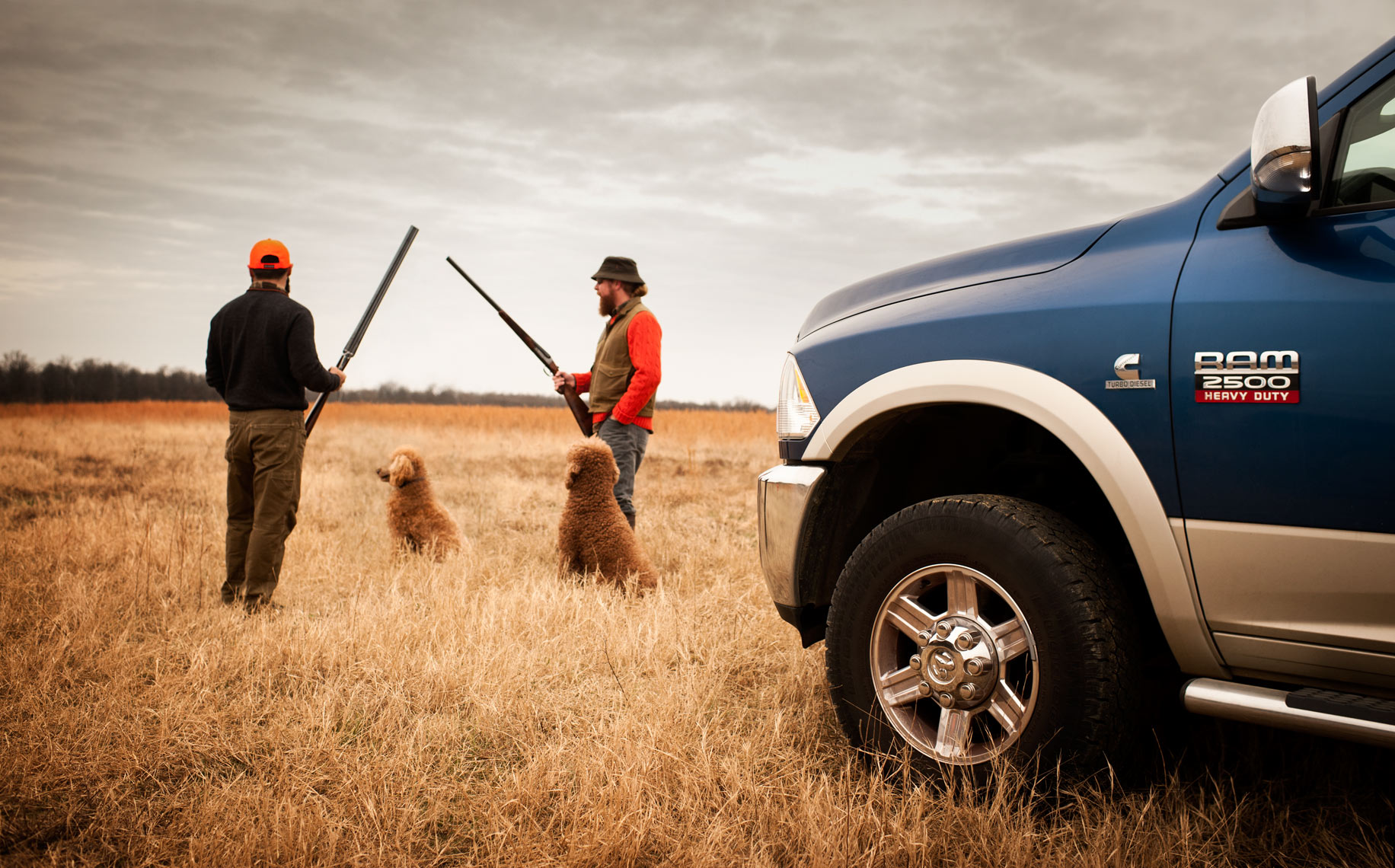 ©Robb Scharetg - Hunters and their dogs alongside the RAM.  DC photographer , SF photograper